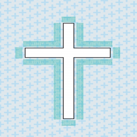 cross white made in 2d software Vector