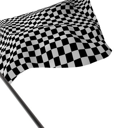 stock car: Large Checkered Flag