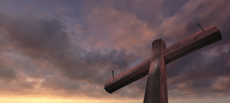 Wooden cross 版權商用圖片 - 21830197