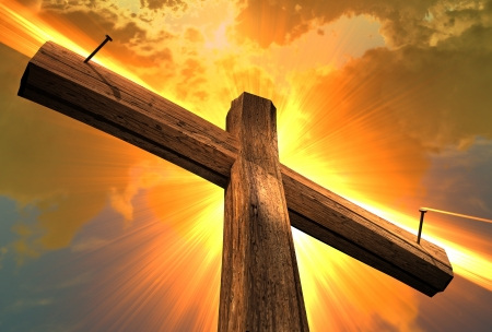 the christ: Wooden cross