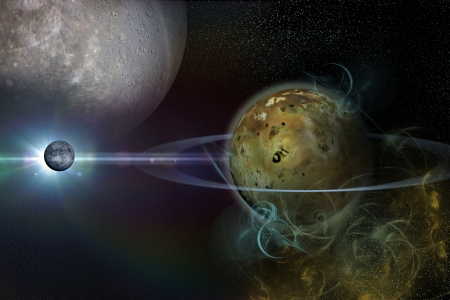 gravitational: the background of the cosmos Stock Photo