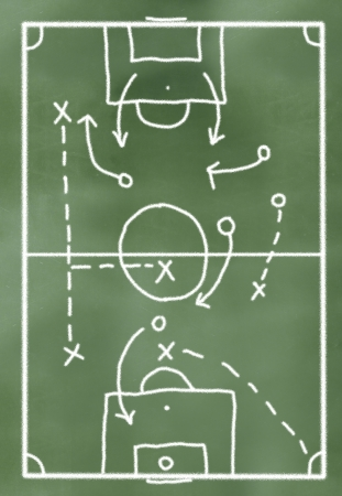 game plan on greenboard  made in 3d software