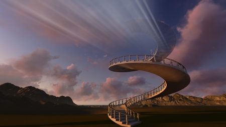 stairway: Stairway to heaven made in 3d software Stock Photo