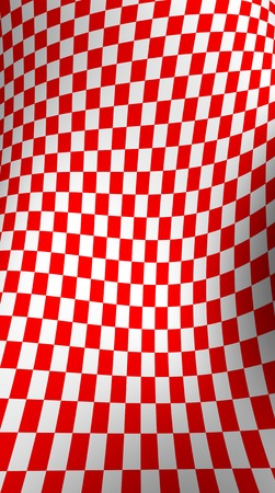 Red-white checkered plane made in 3d photo