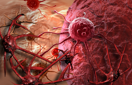 cancer cells made in 3d photo