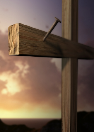 The cross of Golgotha made in 3d