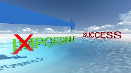 better chances: Make it possible Motivational concept made in 3d