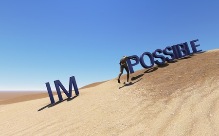 Make it possible. Motivational concept made in 3d software photo