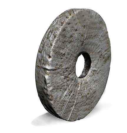 Stone Wheel made in 3d Stock Photo