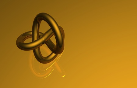 golden torus made in 3d software photo