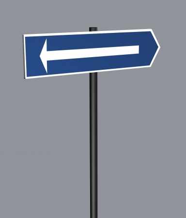 one lane road sign: Road Sign Arrow made in 3d software