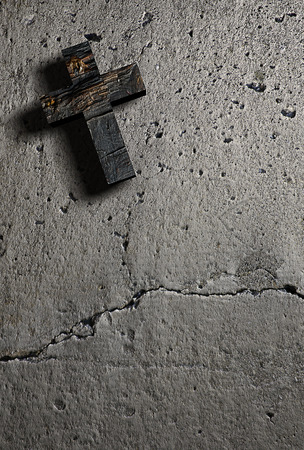 wooden cross: Cross on the wall made in 3d