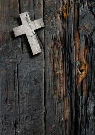 wooden cross: Cross on the wood made in 3d