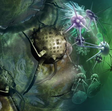 cancer cell made in 3d software Stock Photo - 26162050
