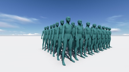 Standingin The Crowd made in 3d software Stock Photo - 26162057