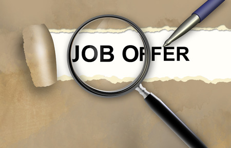 Job offer concept made in 3d software