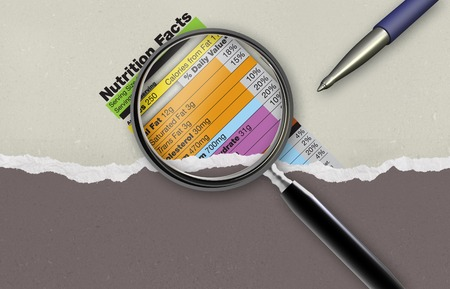 Nutrition facts made in 2d software