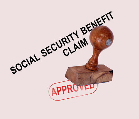 Social Security Claim Approved Stamp Showing Social Unemployment Benefit Agreed Stock Photo - 27323038