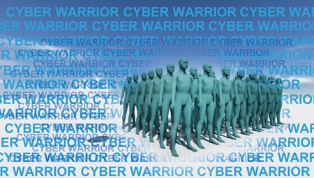 cyber warriors made in 3d software photo