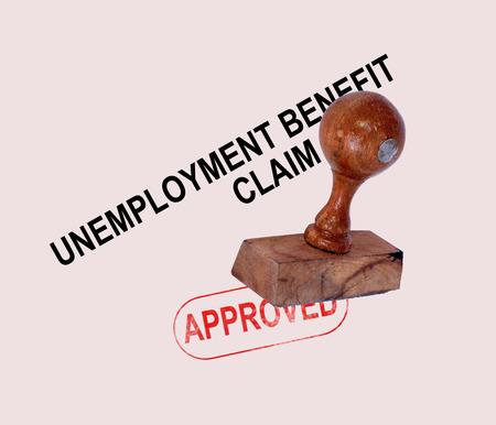 akkoord: Werkloosheidsuitkering Approved stempel met de sociale zekerheid Welzijn Overeengekomen