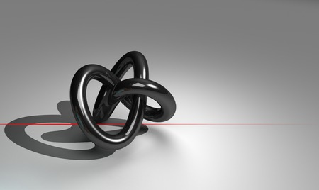 torus with red line made in 3d software photo
