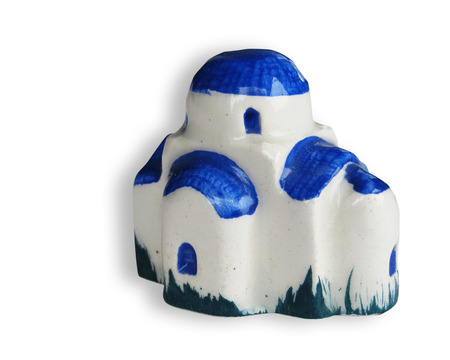 handcrafted souvenir of house  made in ceramic photo