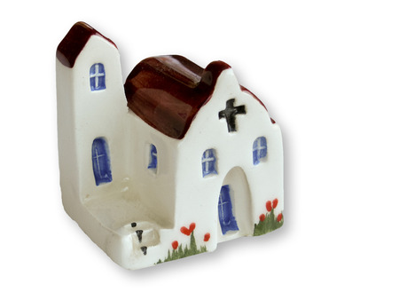 handcrafted souvenir of churche made in ceramic photo