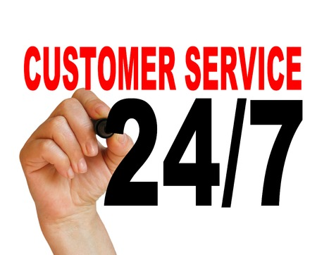writing  words  247 customer service   on white  background made in 2d software photo