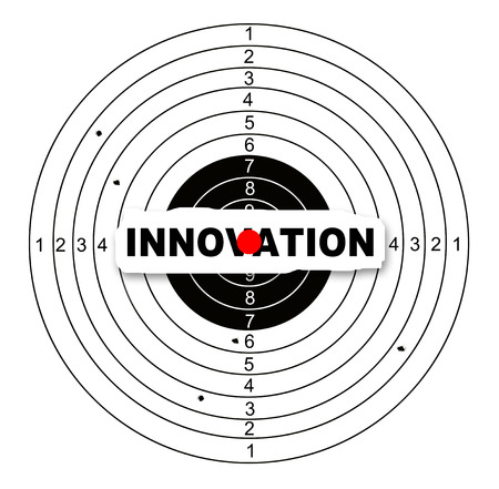 Innovation target made in 2d software photo