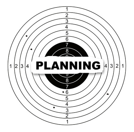 Planning target made in 2d software photo