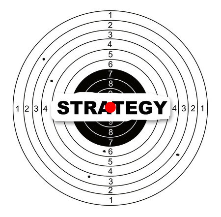 Strategy target made in 2d software photo