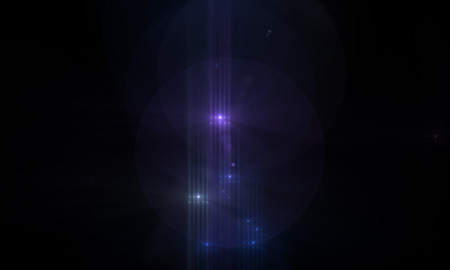 star with lens flare and bokeh effect made in 3d software 版權商用圖片