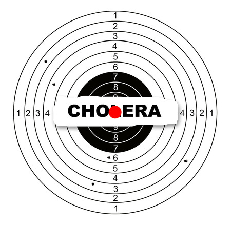 Shooting target with word vision made in 2d software photo