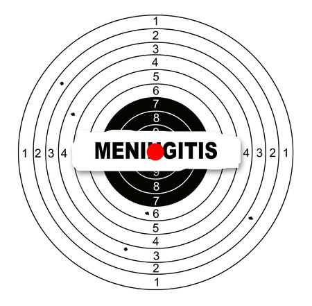 meningitis: Shooting target with word meningitis made in 2d software Stock Photo