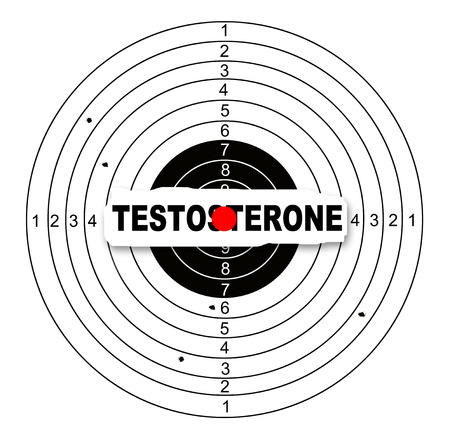 testosterone: Shooting target with word testosterone made in 2d software