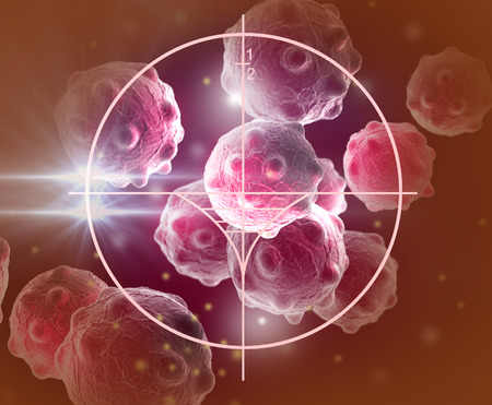 cancer cell made in 3d software Stock Photo