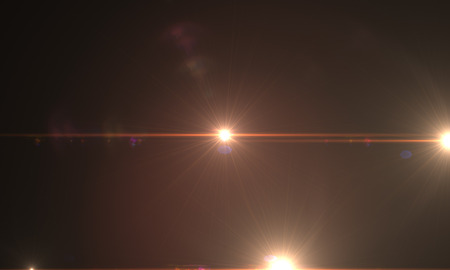 star with lens flare and bokeh effect made in 3d software Stock Photo
