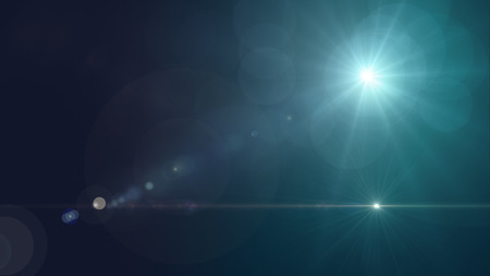 art effect: star with lens flare and bokeh effect
