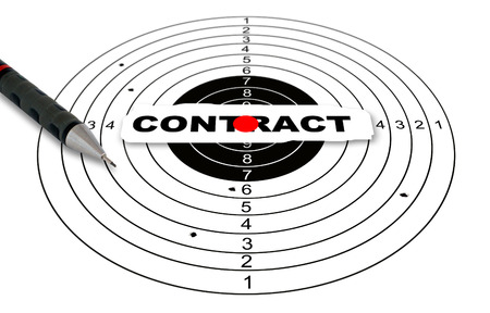 reach out: Shooting target with contract goal made in 2d software