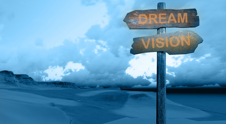 dream vision: sign direction DREAM - VISION made in 3d software