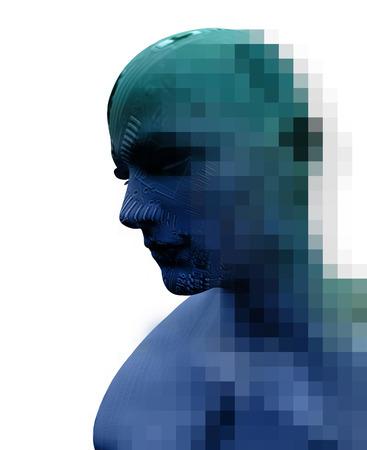 Digital Cyber Circuit Head