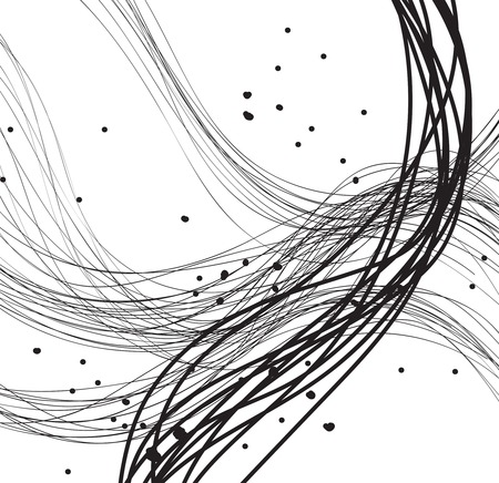 etch: Abstract line Art made in 2d software Stock Photo