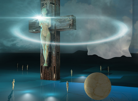 3dmax: Figure of Crucifixion made in 3dmax