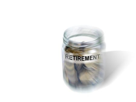 retirement savings: Retirement savings money in jar made in 2d software