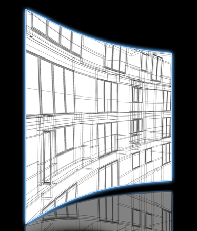 wire frame: Wire Frame Architectural Background made in 3d software