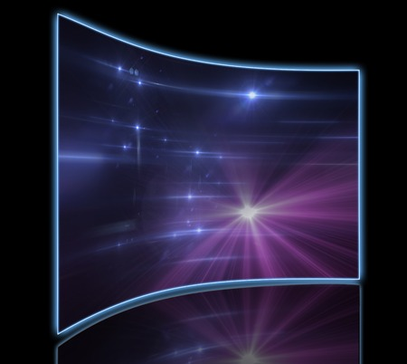 ripple effect: star with lens flare and bokeh effect made in 3d software Stock Photo