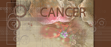hi tech: hi tech infographics of cancer cell made in 3d software