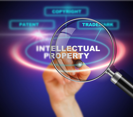 property: Presentation of protection of intellectual property Stock Photo