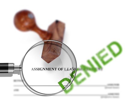 assignment: Assignment of lease - denied made in 2d software