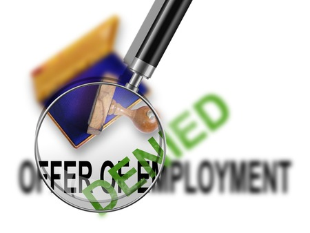 denied: Offer of employment - denied made in 2d software